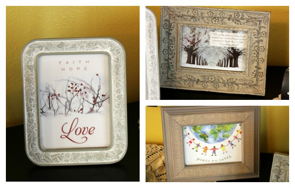 Recycling Christmas Cards Framed Art Crafting A Green World