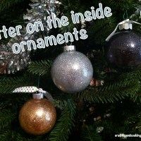 Glitter on the inside ornaments