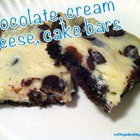 Chocolate, cream cheese cake bars
