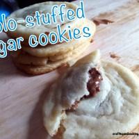 Rolo-stuffed sugar cookies