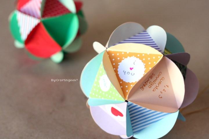 Bolas decorativas o cartas rellenas de dulces ¡tu eliges!