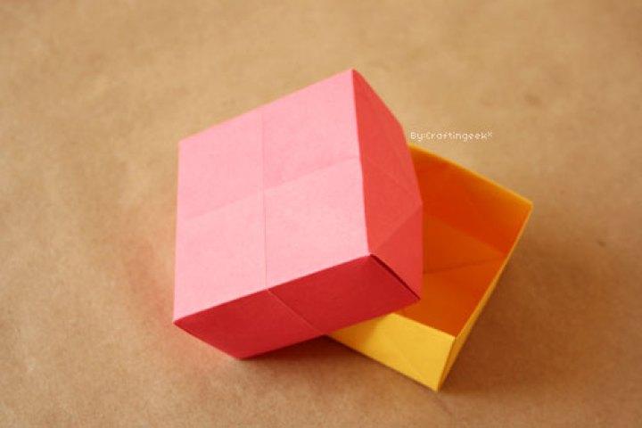 Caja de origami paso a paso
