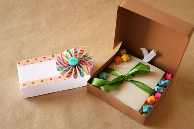 Haz una caja de pizza para regalo