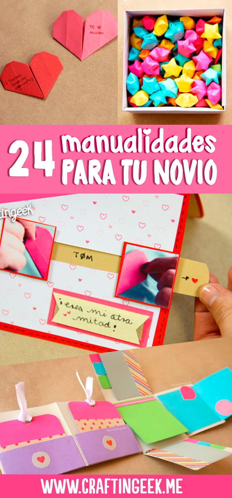 24 manualidades para tu novio o novia