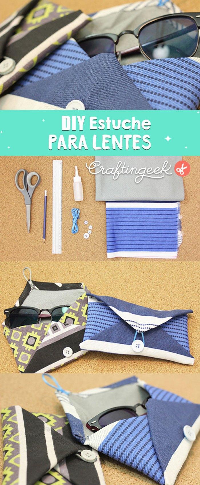 Como hacer un estuche para lentes paso a paso fácil - DIY Sunglass pouch