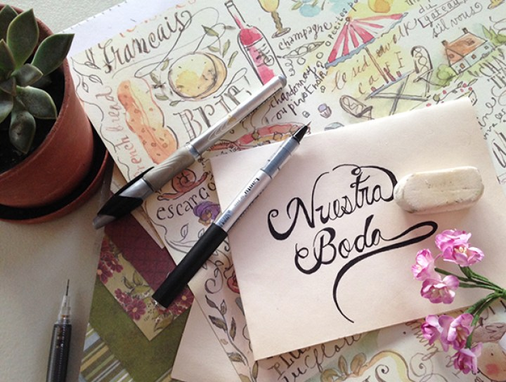Como hacer letra cursiva elegante paso a paso