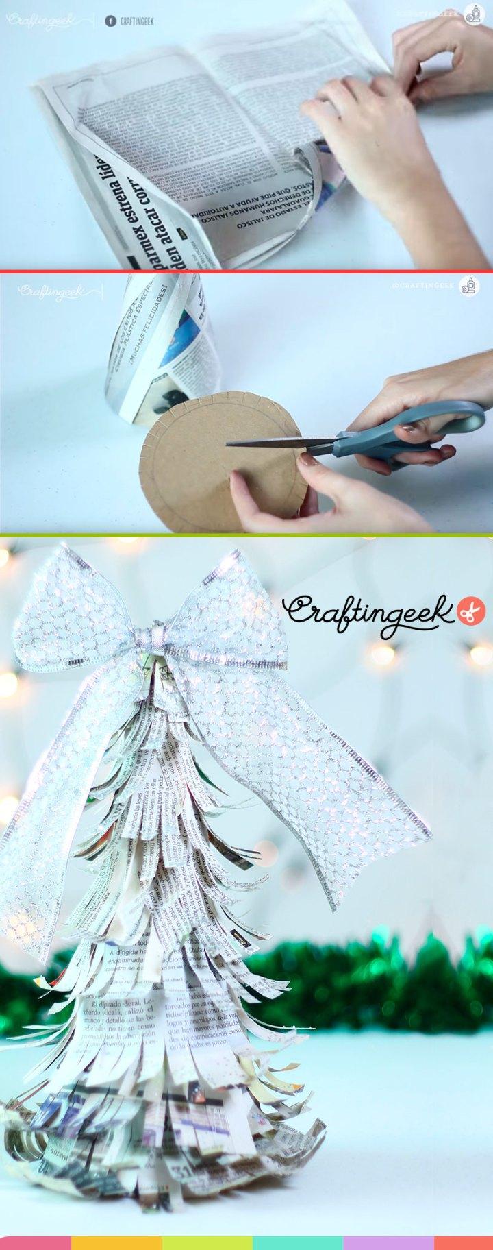arbol-de-navidad-hecho-con-periodico