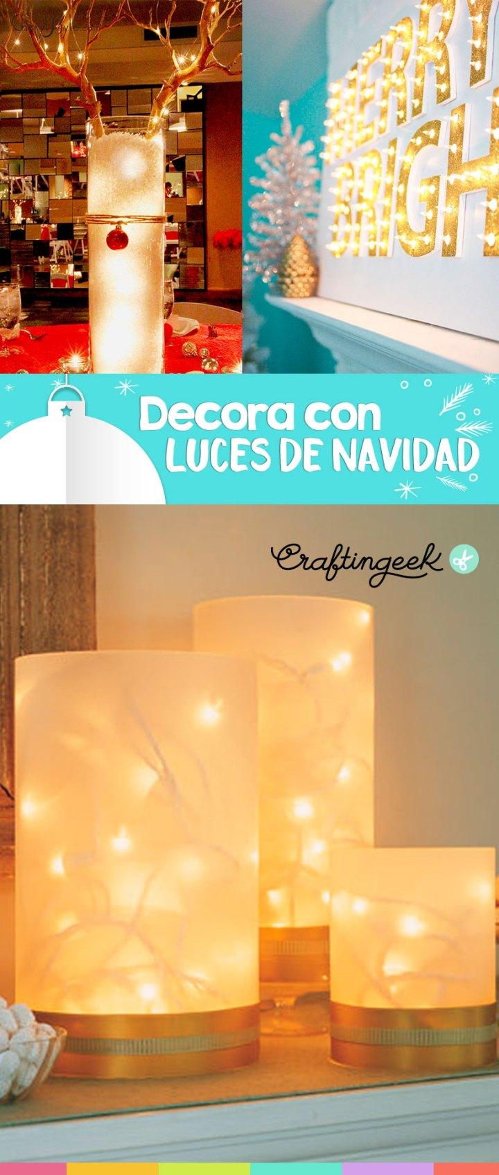 decoraciones con luces de navidad