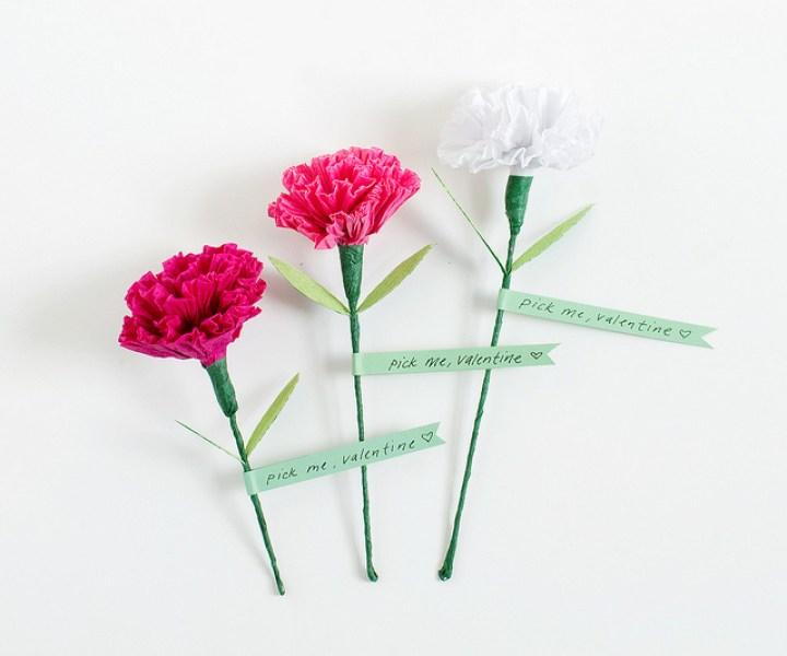 flor clavel de papel