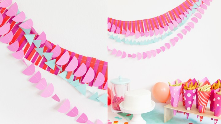 Decora tus paredes con Guirnaldas de papel | Decorate with Paper garland