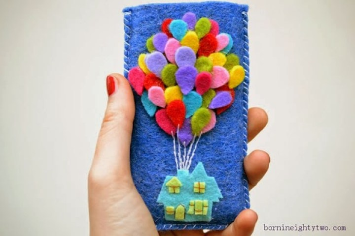 funda con fieltro