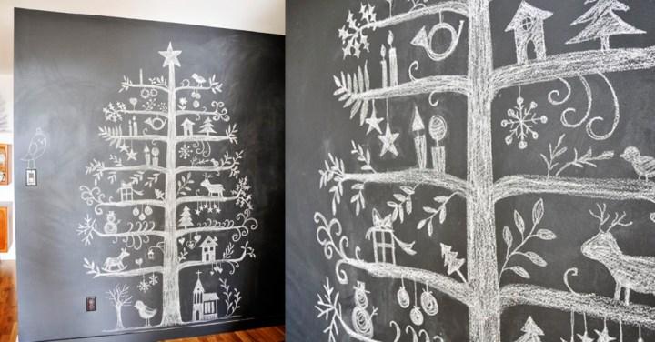 arboles pintados en la pared