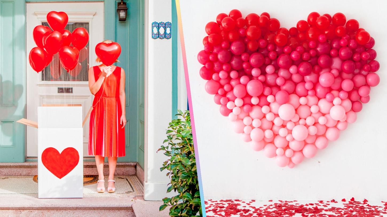 como hacer corazon con globos