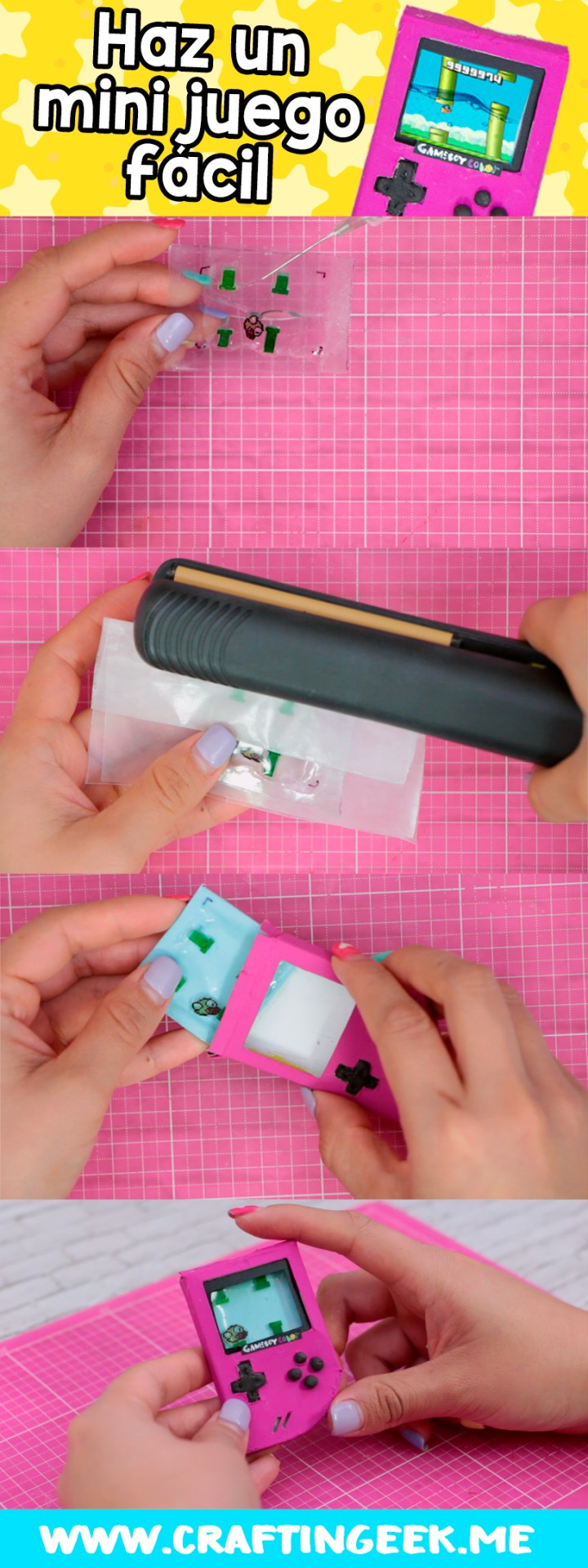 Pasos para hacer una mini consola o gameboy
