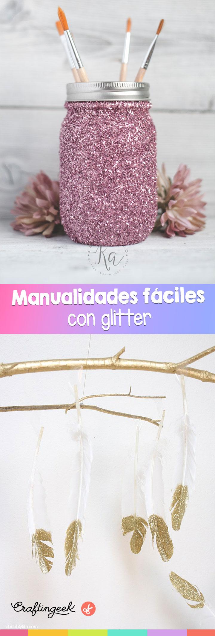 manualidades con glitter