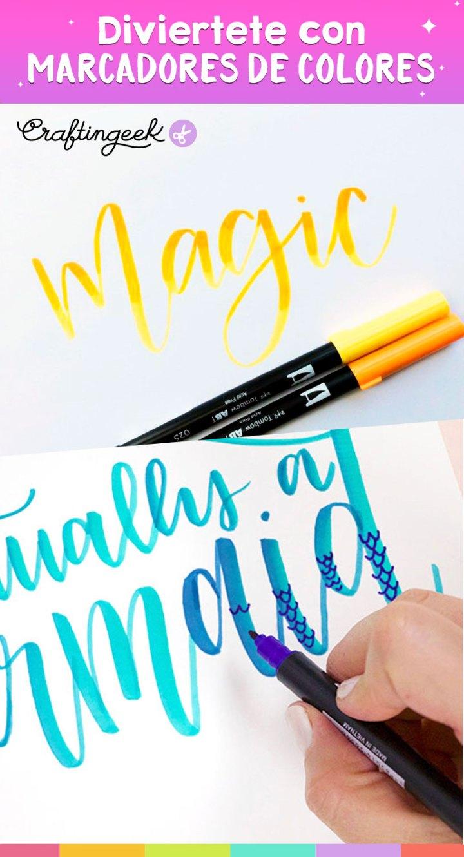 Técnicas de caligrafía con marcadores