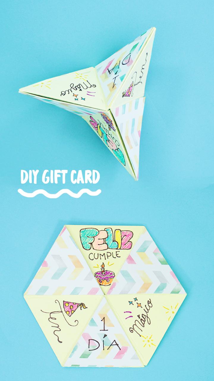 Realiza una Carta Hexaflexagon de regalo // Make a Hexaflexagon Gift Card
