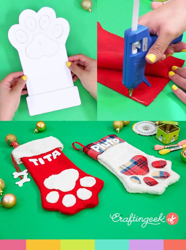 Haz una bota navideña para tu mascota