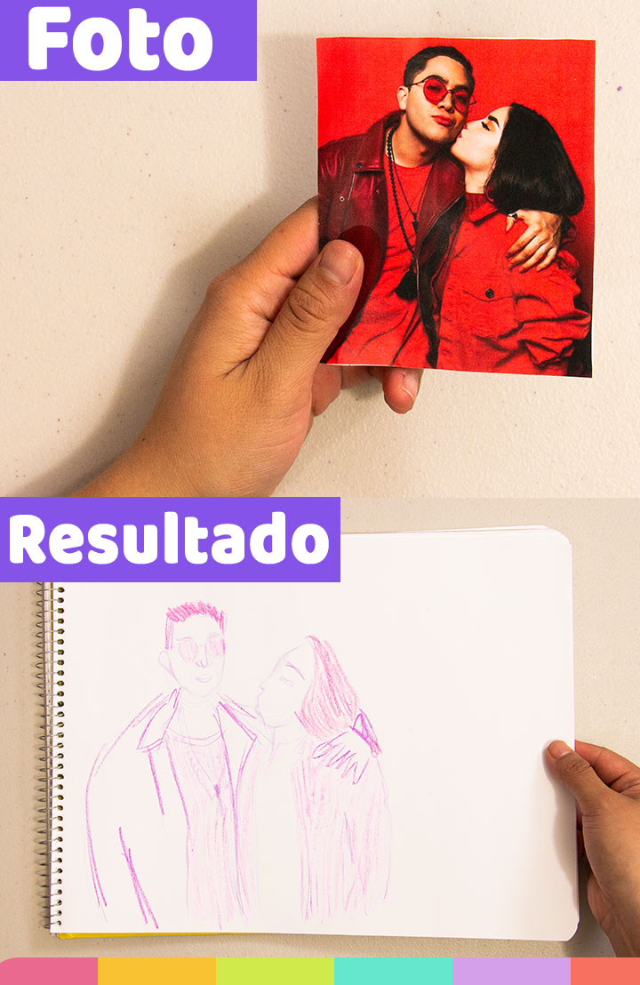 Separe a Jukilop en este dibujo utilizando lápiz de color morado ¡Le eche muchas ganas, pero lamento separarlos! | I separated Jukilop in this drawing using a purple colored pencil. I try!, but I'm sorry to separate them!