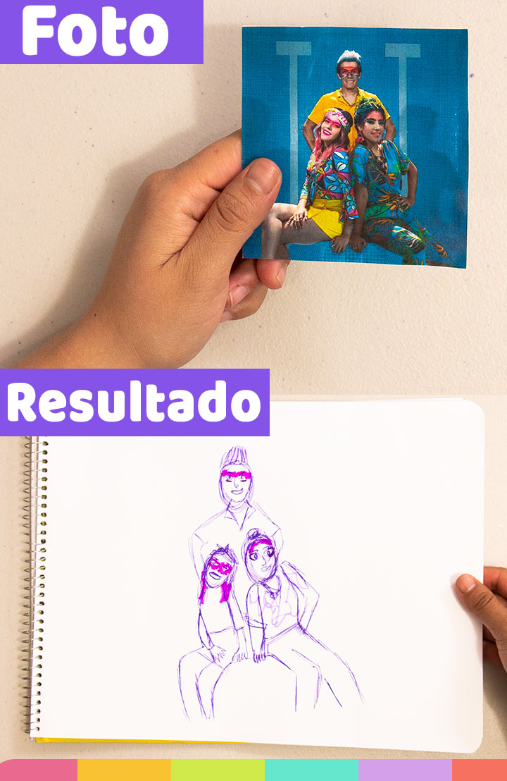 Dibujar a Lesslie, Karen y Rafa Polinesios fue difícil, y más porque utilice una pluma morada | Drawing Lesslie, Karen and Rafa Polinesios was so difficult, because I used a purple pen