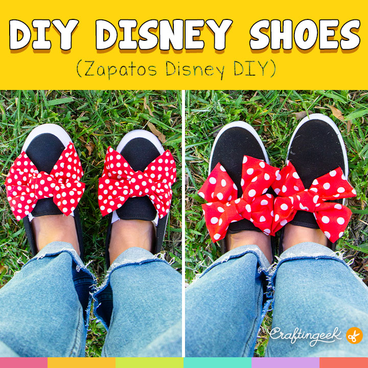 Haz estas zapatillas de Minnie Mouse con materiales fácil de conseguir | Make these Minnie Mouse sneakers