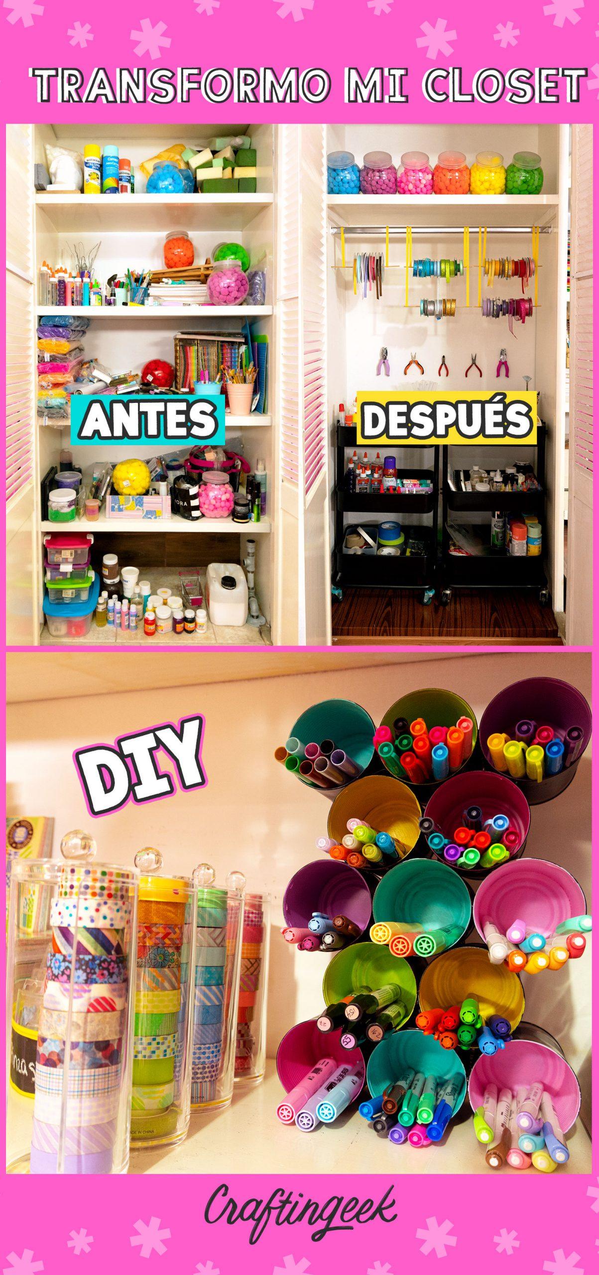 Mi armario de arte antes y después