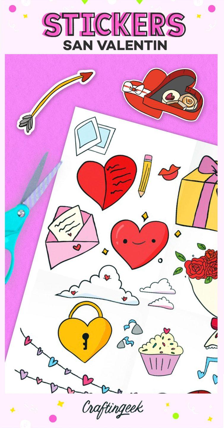 Stickers de San Valentin