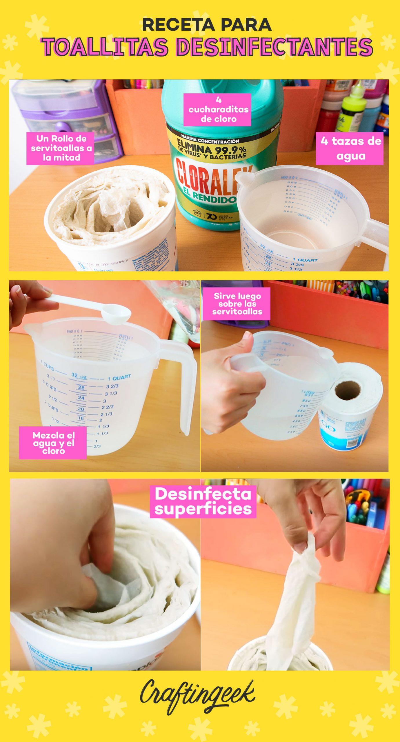 Cómo hacer toallitas desinfectantes de cloro para la casa