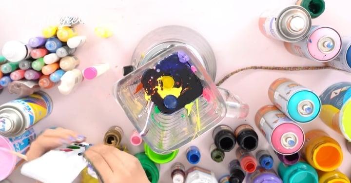 Mezclar pinturas acrílicas