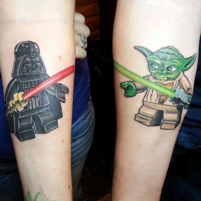 star wars tatuaje parejas