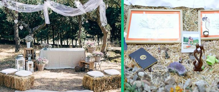 Estilos de decoración para bodas originales
