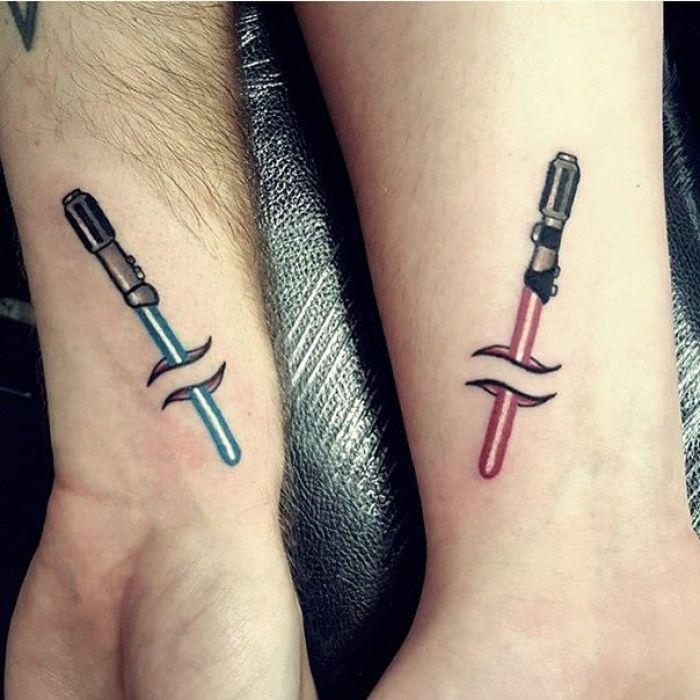 tatuaje para pareja de Star Wars