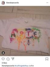 Camisetas estampadas con crayones