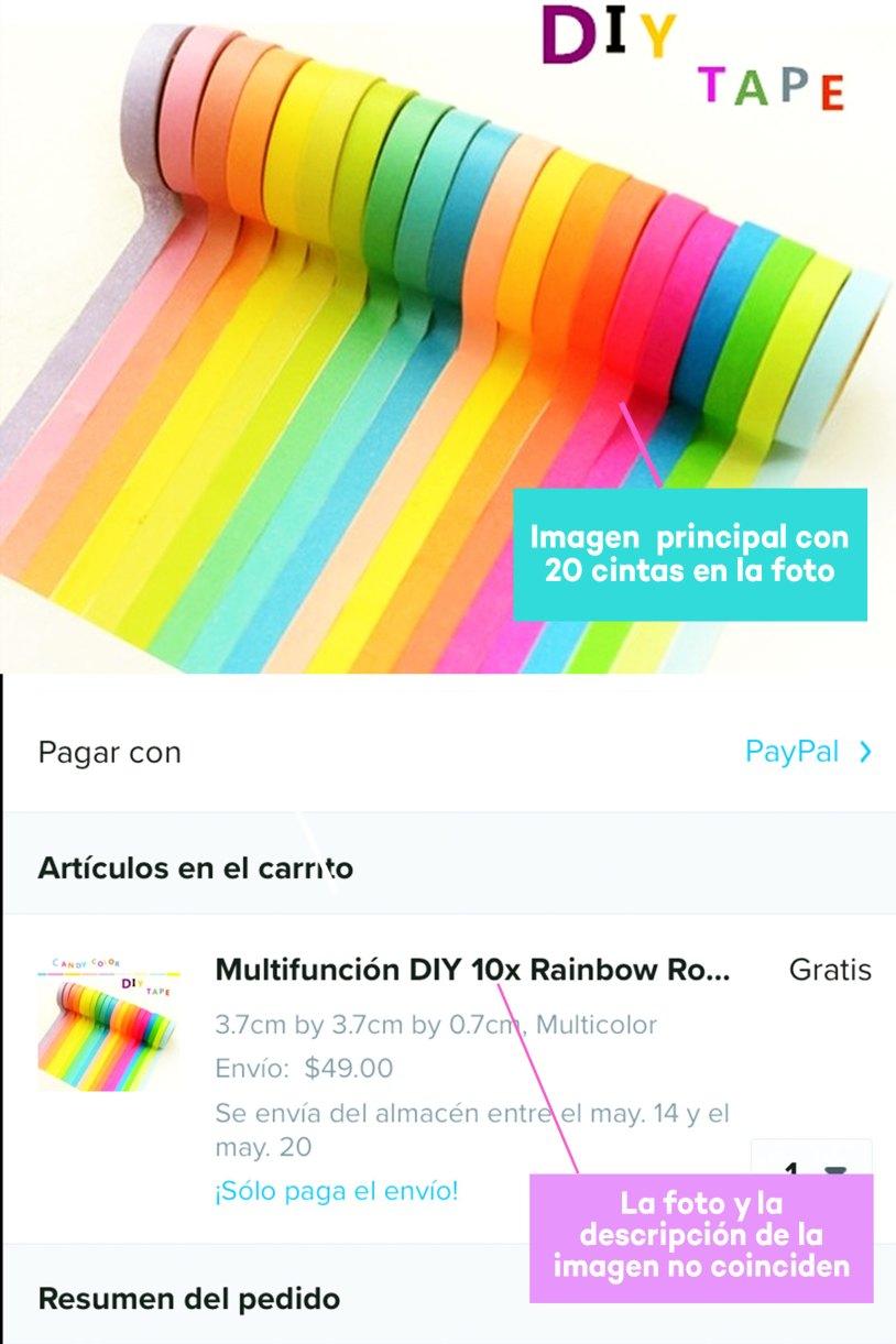 Compras en Wish de papelería bonita_COMPARA
