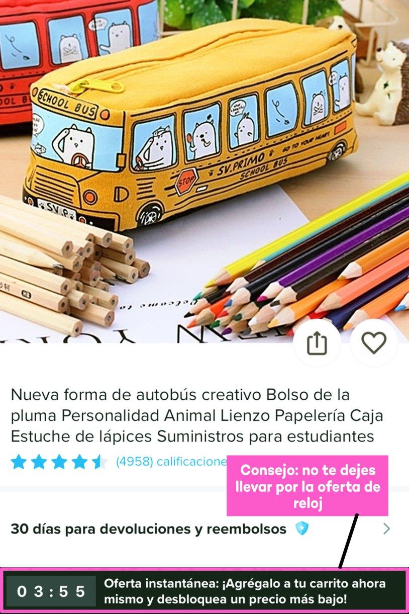 Compras en Wish de papelería bonita_RELOJ