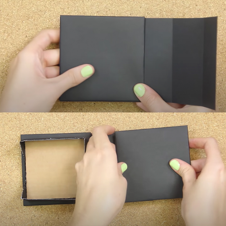 Como hacer un porta notas con carton paso a paso