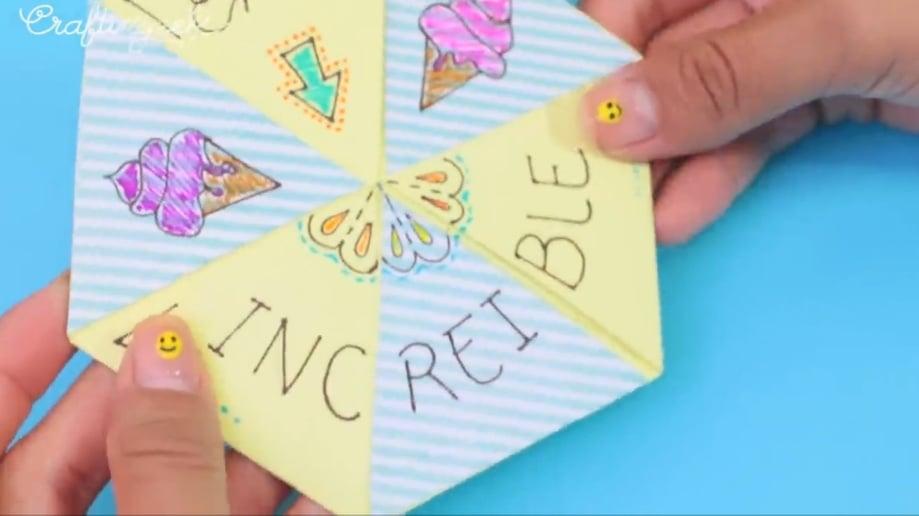 tarjeta hexaflexagono