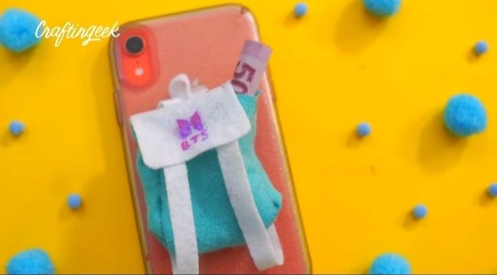 mini mochila para celular