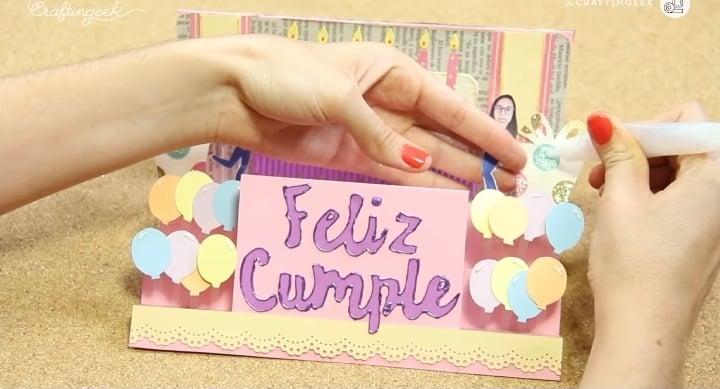 decoración de tarjeta de cumpleaños creativa