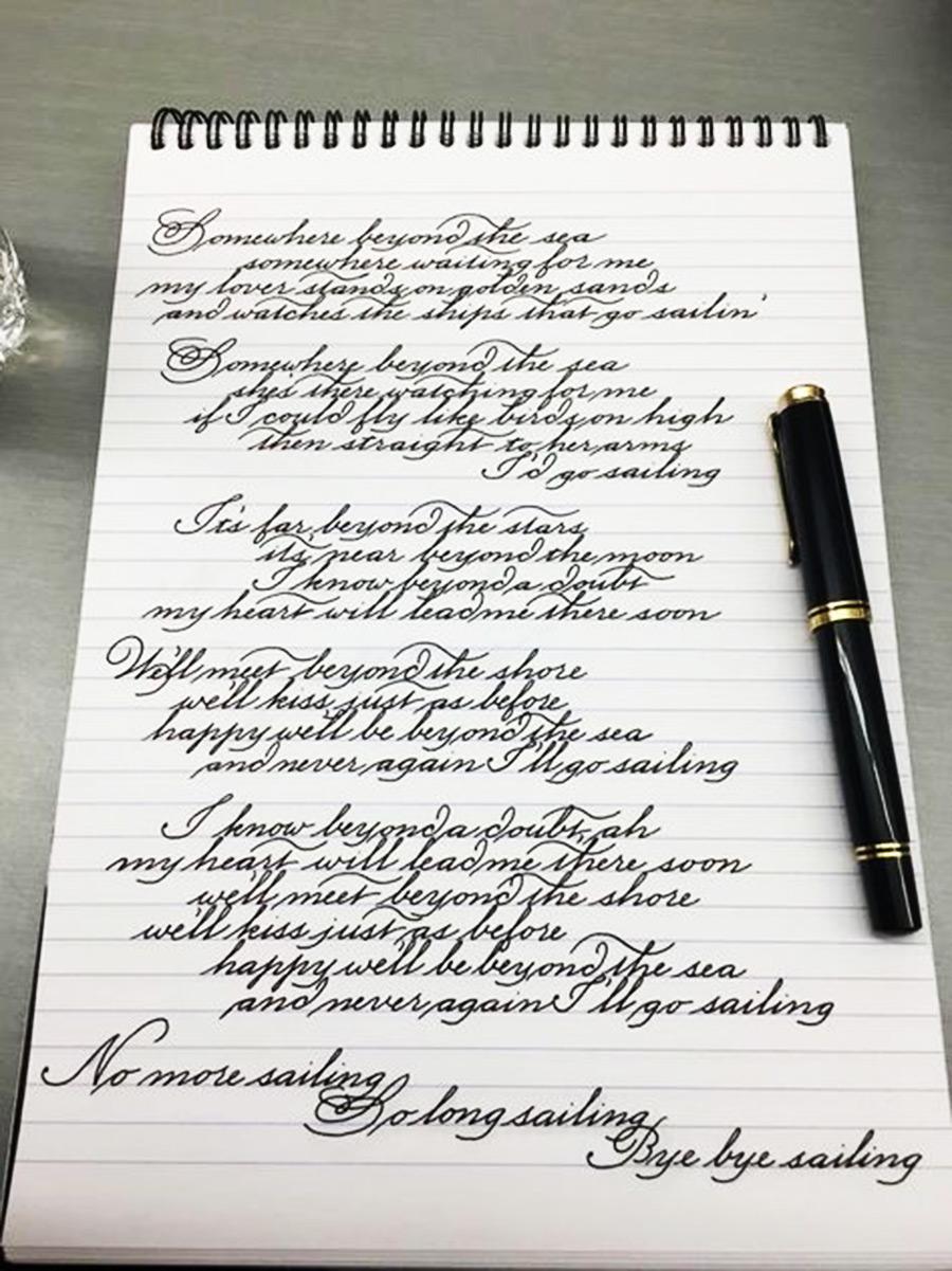 5 ejercicios de caligrafía que no te debes perder