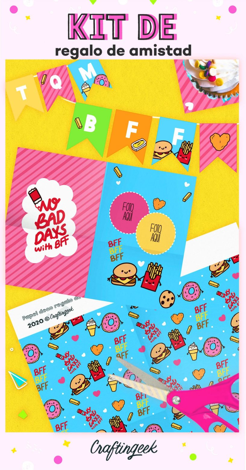Kit descargable para fiestas de cumpleaños de amistad_Portada