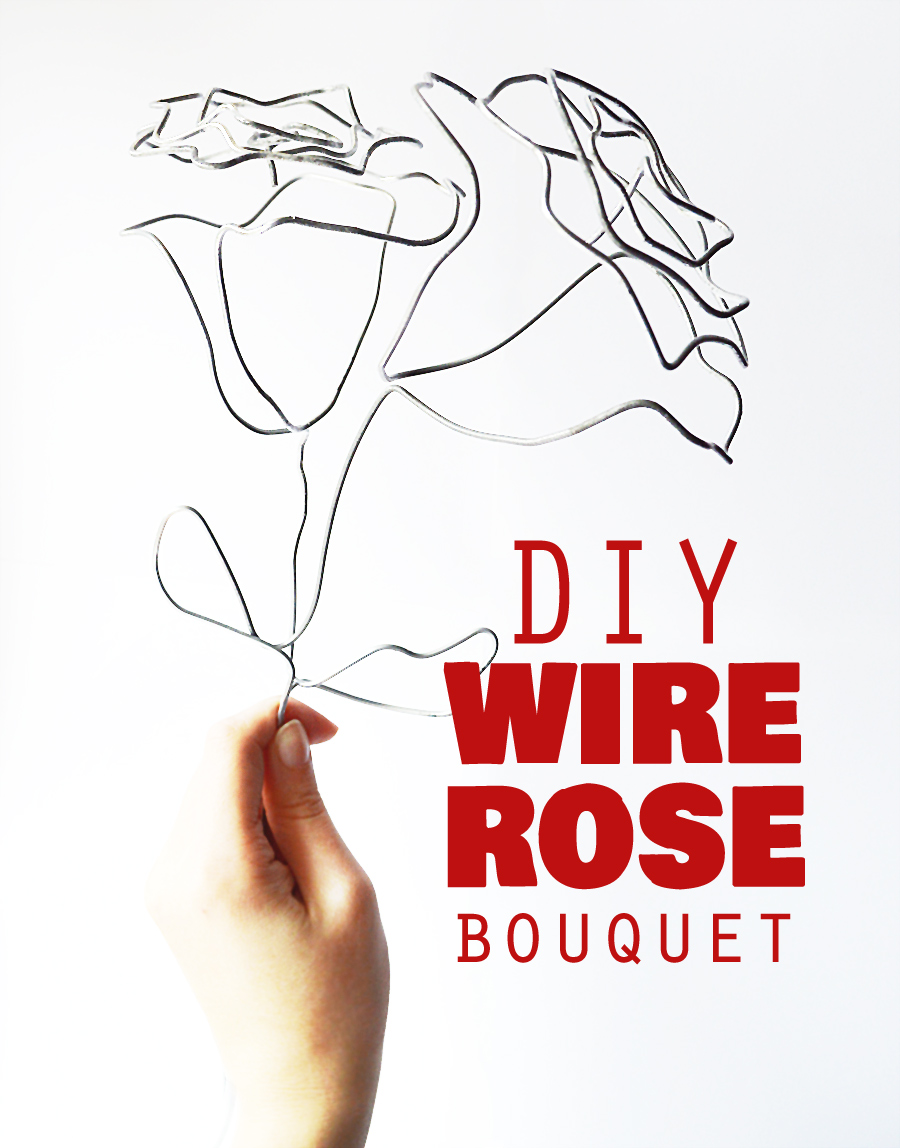 DIY wire rose #industrial decor   craftingfingers.co.uk
