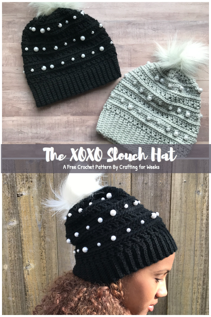 The XOXO Slouch Hat: A Free Crochet Pattern - Crafting for Weeks