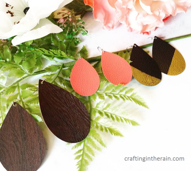 DIY Leather Earrings With Cricut Crafting In The Rain