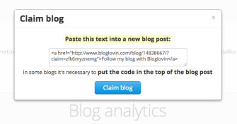 Copy the code from Bloglovin