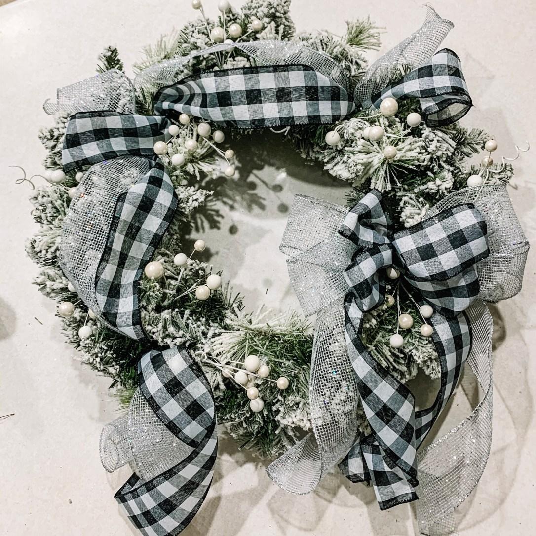 Buffalo Plaid Christmas Wreath