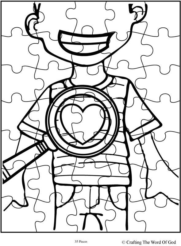 God Searches Hearts Puzzle Activity Sheet Crafting The