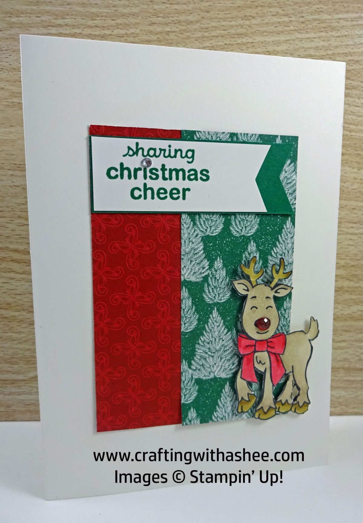 Stampin up Rudolph Christmas tags