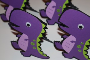 Dino Shaped Cricut Card - Happy Birthday