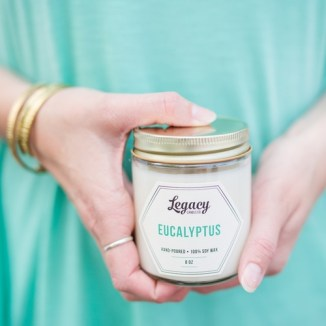 Scent yo'self with candles from Legacy Candle Co